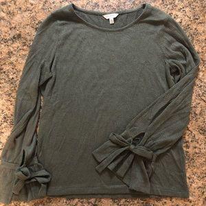 Lucky Brand army green long sleeve shirt